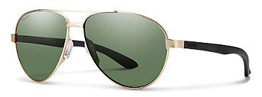 Smith Salute Gold/Polarized Gray Green Sunglasses
