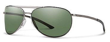 Smith Serpico 2.0 Slim Gunmetal/ChromaPop Polarized Gray Green Sunglasses