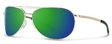 Smith Serpico Slim 2.0 Gold/ChromaPop Sun Green Mirror Sunglasses