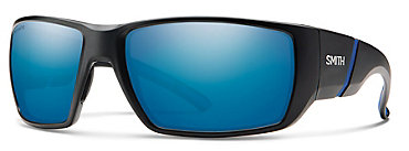 Smith Transfer XL Black/ChromaPop Polarized Blue Mirror Sunglasses