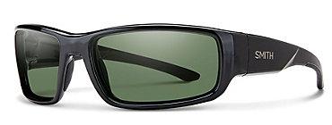 Smith Survey Black/Polarized Green Mirror Sunglasses