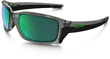 Oakley Straightlink Sunglasses - Gray Ink with Jade Iridium Lens