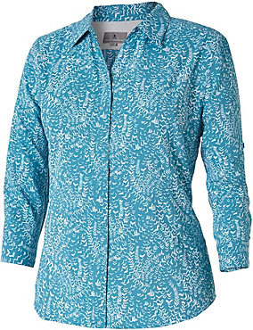 Royal robbins expedition chill print 3 4 sleeve shirt for Royal robbins expedition shirt 3 4 sleeve women s