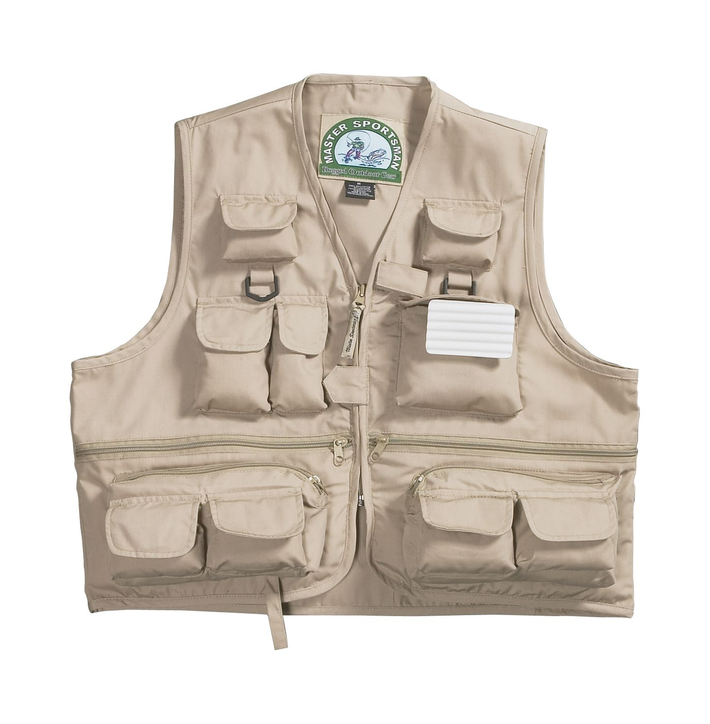 Master sportsman pocket fishing vest field stream for Field and stream fishing shirts