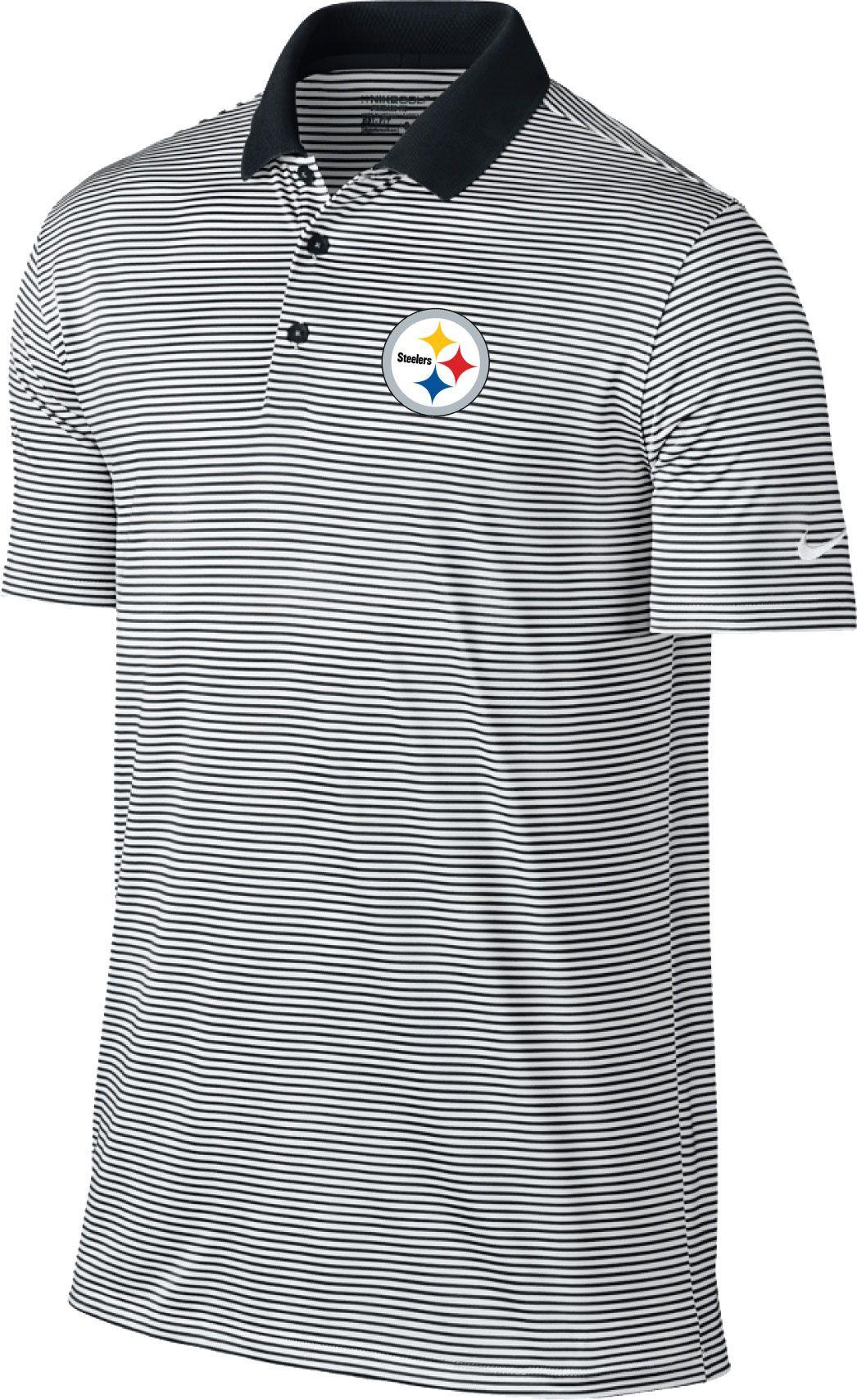 0a399156a Nike Men's Pittsburgh Steelers Victory Stripe Black Polo | Golf Galaxy