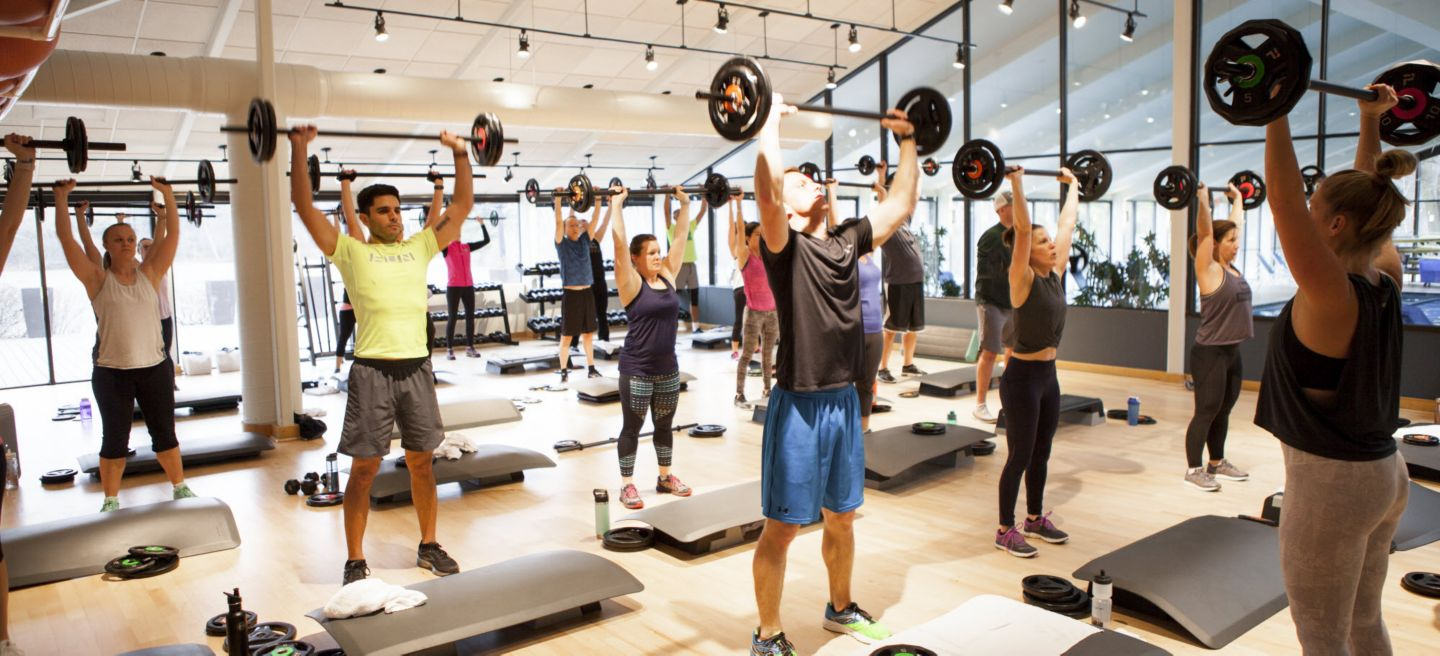 Bodypump class at Sports Core
