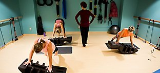 workout class at Sports Core