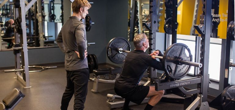 personal training at sports core