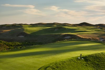 The fairway of hole 10 on the Straits Course at Whistling Straits.
