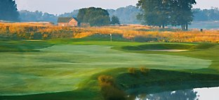 Meadow Valleys at Blackwolf Run - Hole 1 Fishing Hole