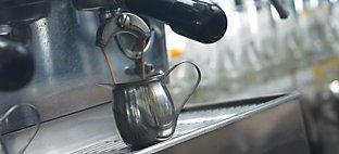 Cappuccino Machine at Brewed Awakening