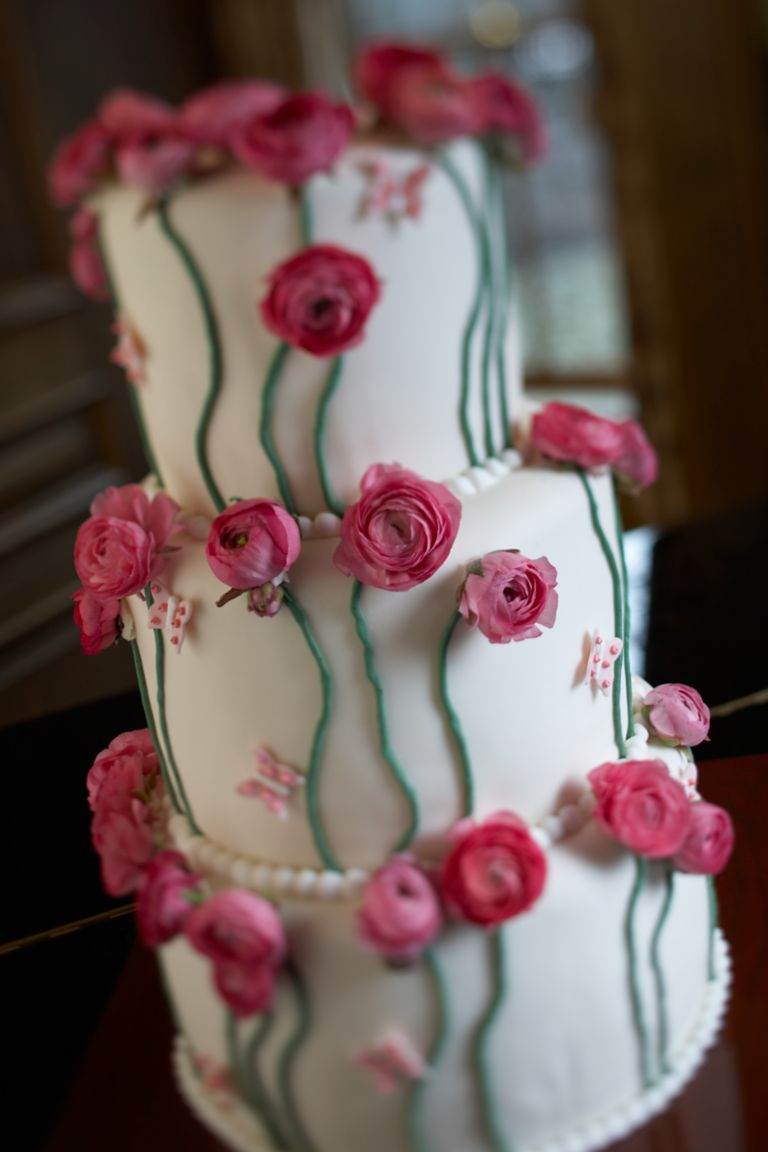 Closeup of a Wedding Cake