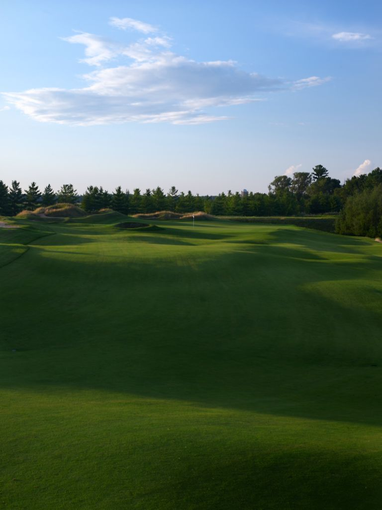 The green of hole 16 on the Irish Course.