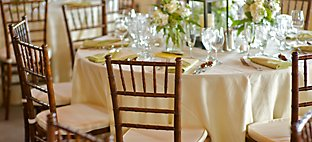 Wedding Table Setting and Seating at Whistling Straits