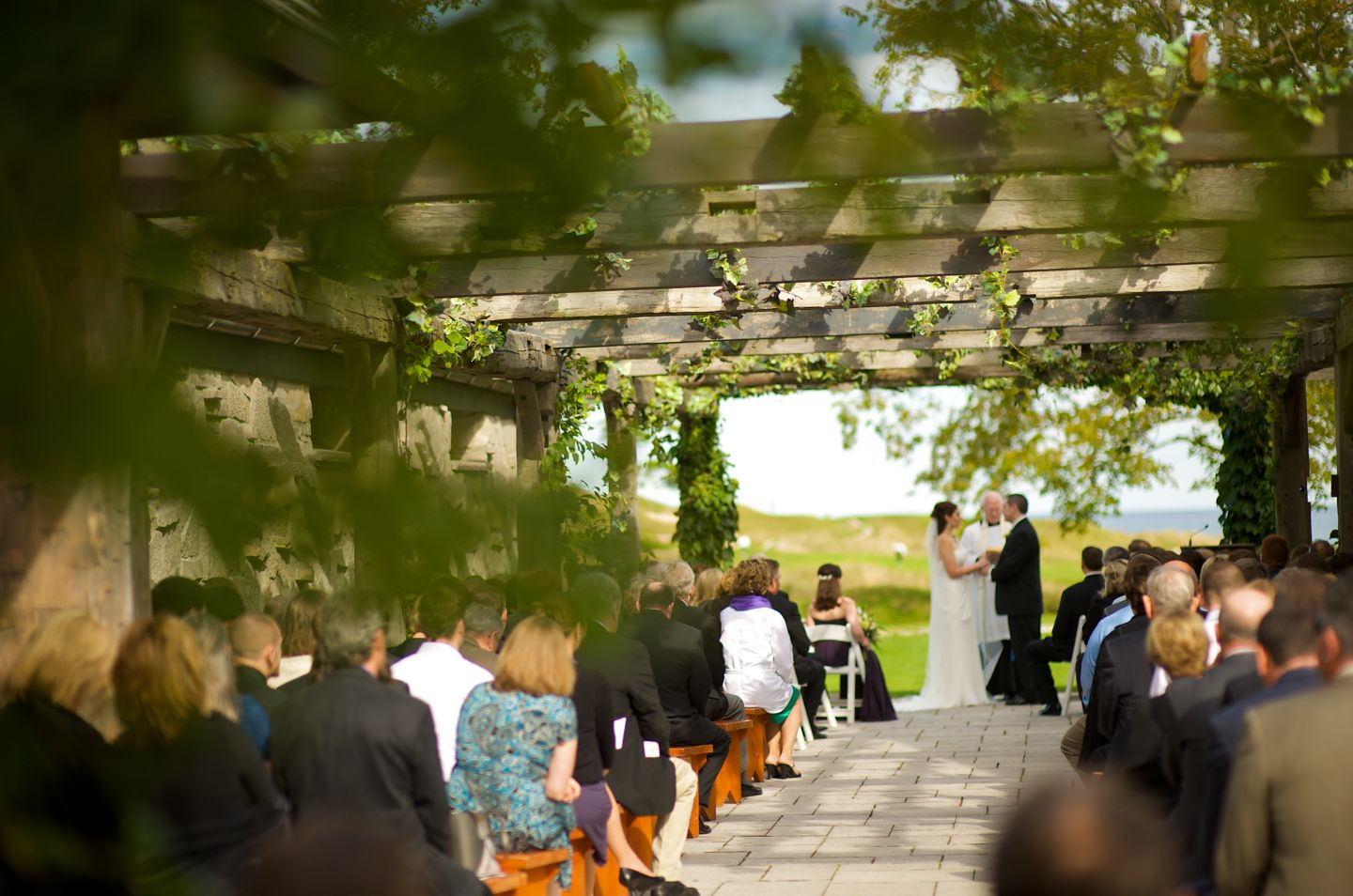 Outdoor wedding at Whistling Straits