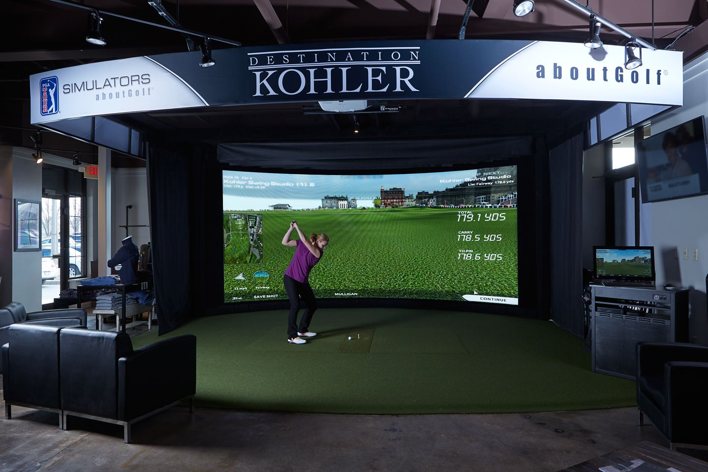 Kohler Swing Studio, Top Golf Swing Suite