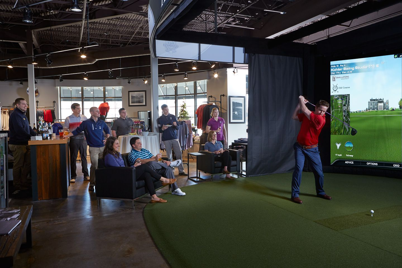 A team event at the Swing Studio in Kohler.