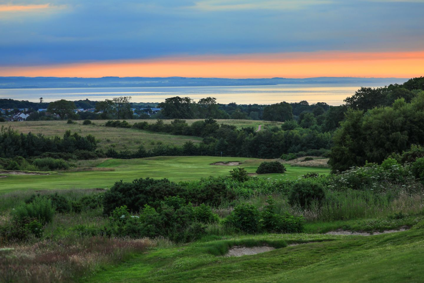 No. 14 Well. Looking towards the 14th green at The Duke's at dusk.