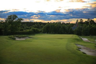 No. 16 Melville. 16th green at The Duke's golf course.