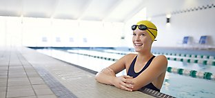 Swimmer in Sports Core Competition Pool