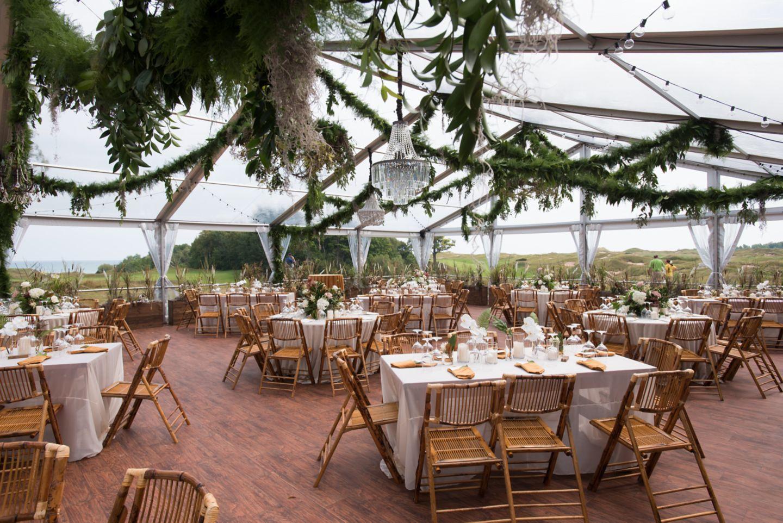 Wedding reception in the Irish Barn at Whistling Straits