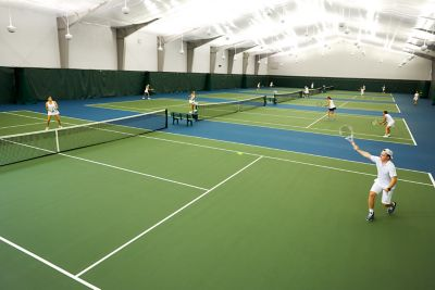 Tennis indoors at Sports Core