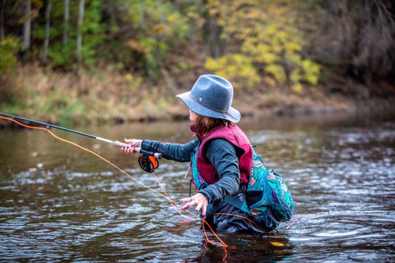 Fly fishing in the Sheboygan River.