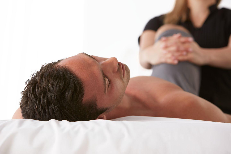 A man receiving a massage