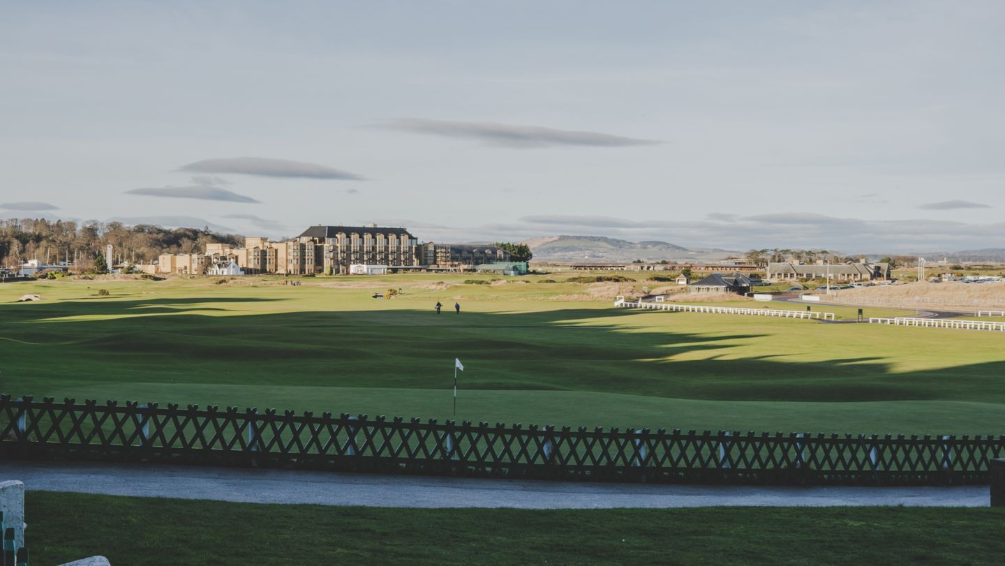 View from the Old Course towards the Old Course Hotel, Golf Resort & Spa