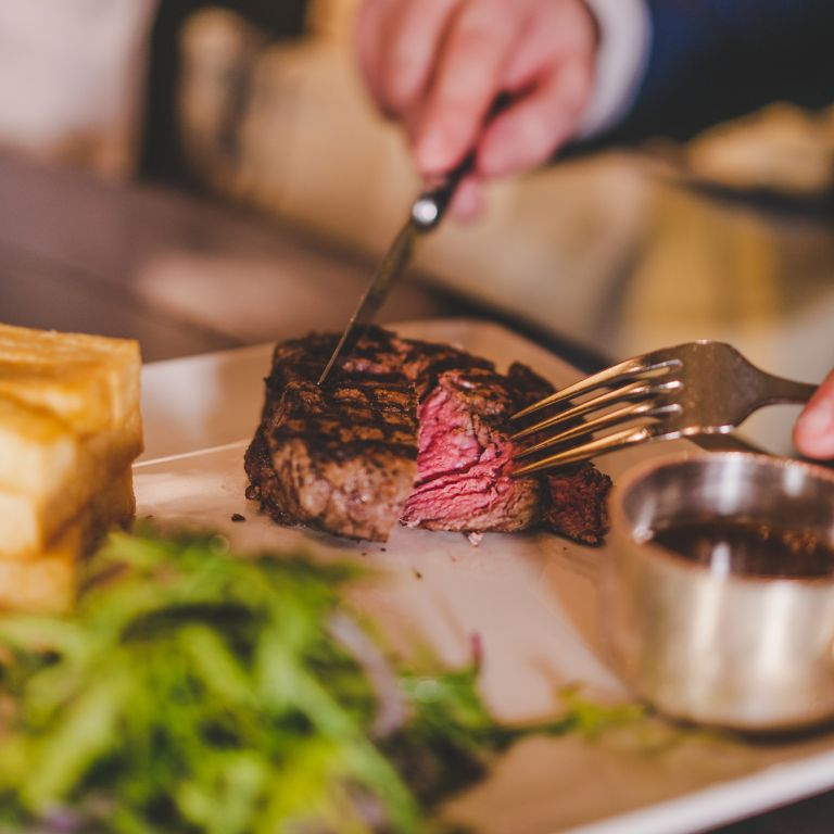 Steak dinner at the Old Course Hotel, Golf Resort & Spa