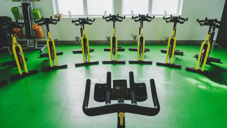 Spin bikes at Kohler Waters Spa Fitness Centre