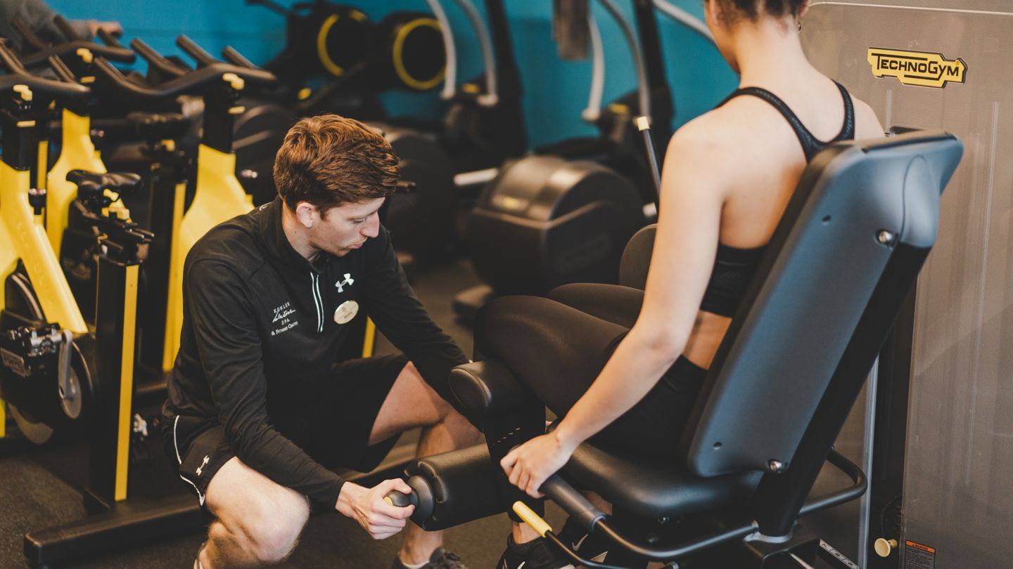 Personal training session at Kohler Waters Spa Fitness Centre.