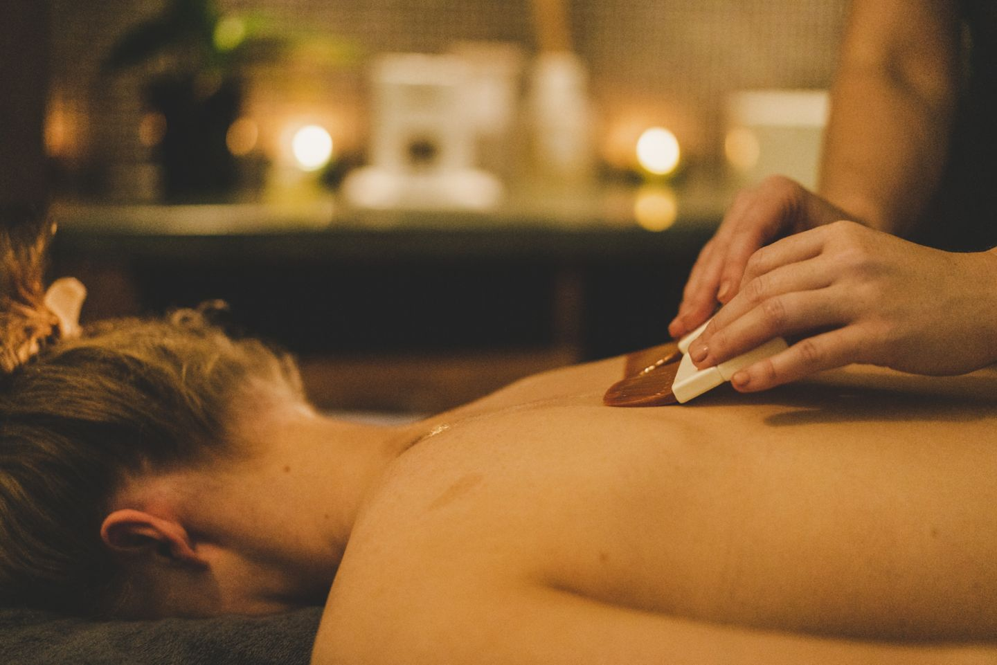 Woman receiving a Massage at Kohler Waters Spa, St Andrews