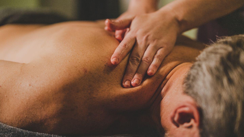 Male having massage in Kohler Waters Spa
