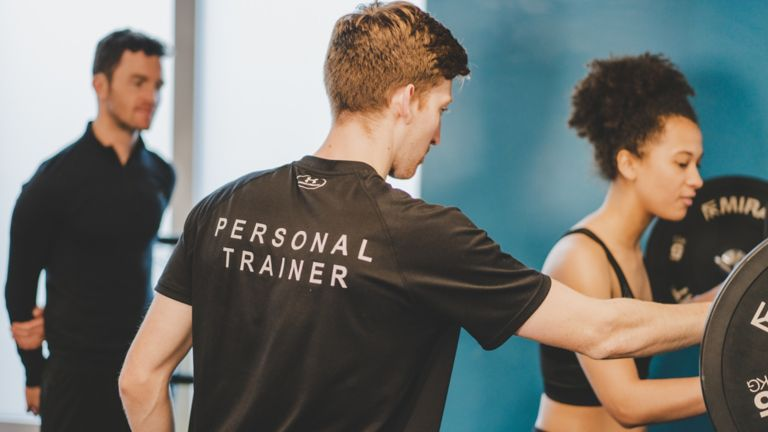 Personal trainer in the Kohler Waters Spa Fitness Centre