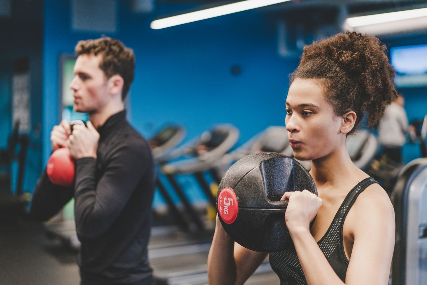 Couple working out in Kohler Waters Fitness Centre, St Andrews