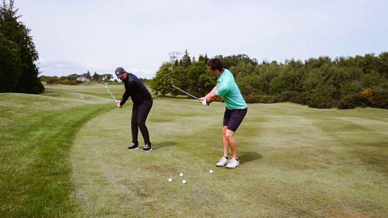 PGA Professional training golfer at The Duke's, St Andrews