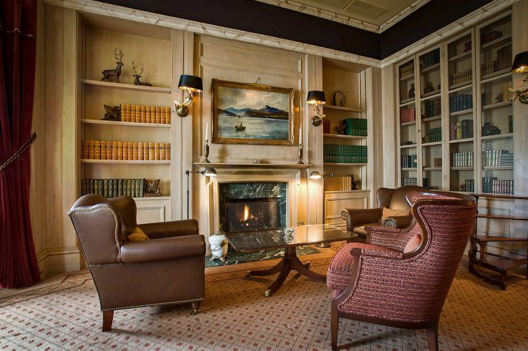The Library is a cosy intimate venue space at the Old Course Hotel, Golf Resort & Spa