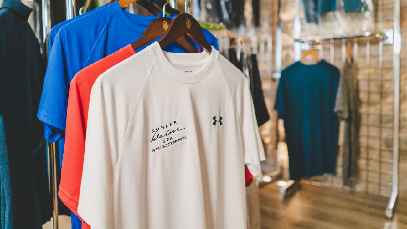 Fitness tshirts at Kohler Waters Spa Fitness Centre, St Andrews