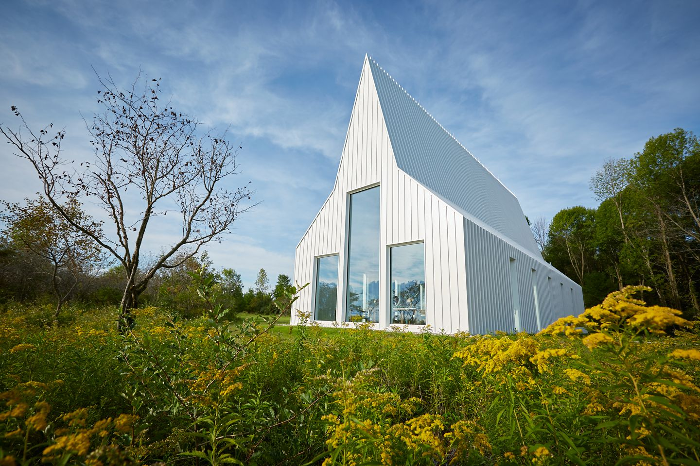 Straits Chapel Exterior side by Lake Michigan