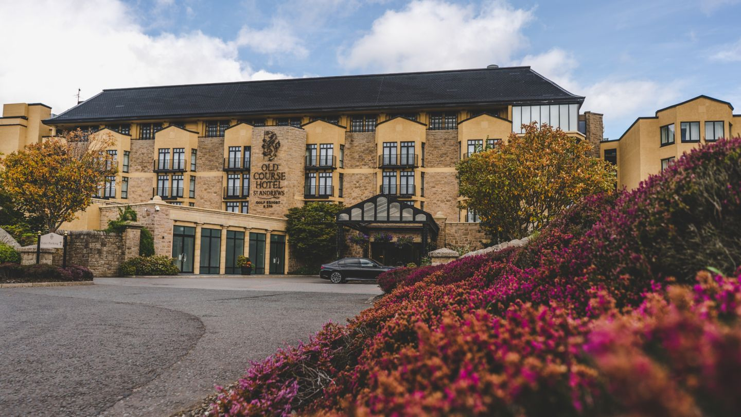 Front entrance to the Old Course Hotel, Golf Resort & Spa, St Andrews
