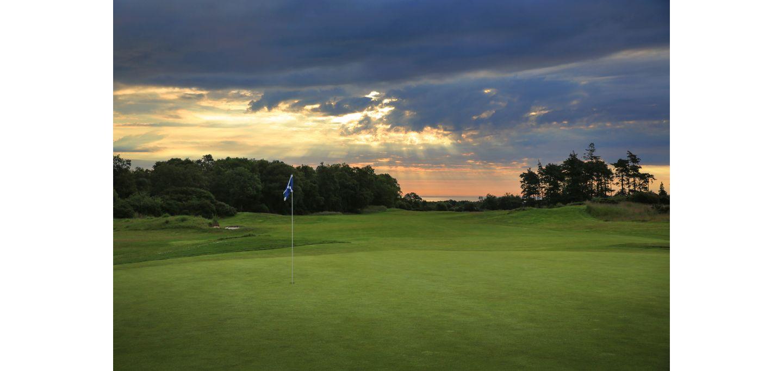 Sunset over The Duke's golf course, St Andrews