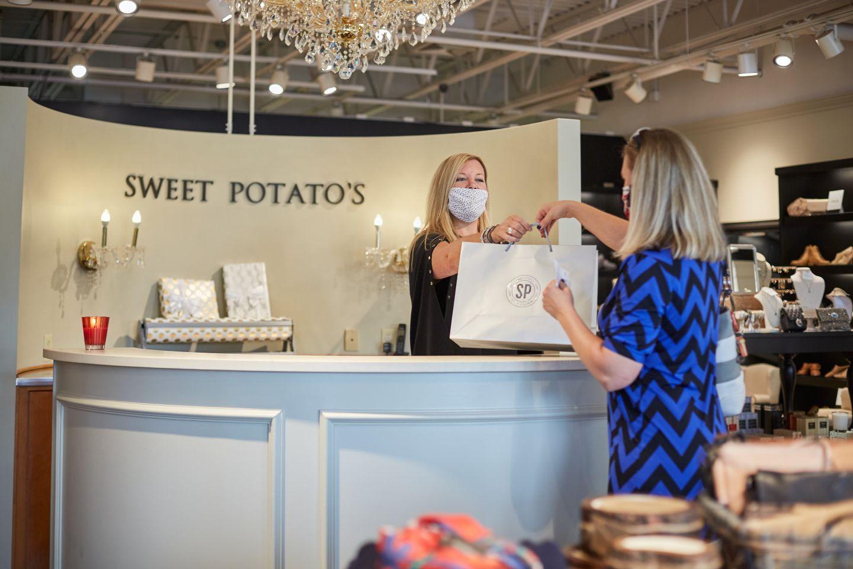 Sweet Potato's customer at check out