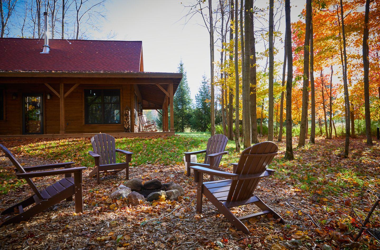 Outside Pond Cabin
