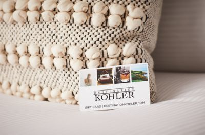 Lodging Gift Card on bed