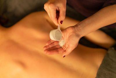 Salt massage in Kohler Waters Spa, St Andrews
