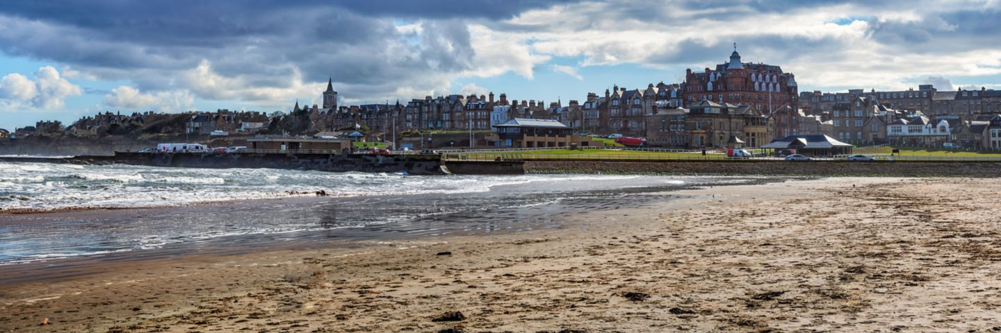West Sands Beach in St Andrews, Scotland