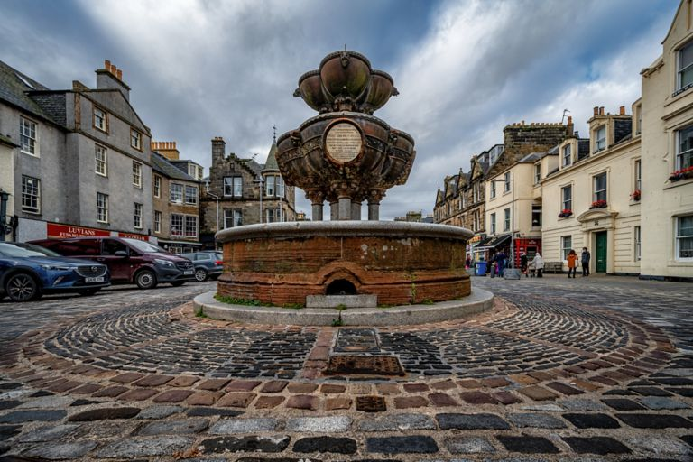 Fountain in the centre of St Andrews, Scotland