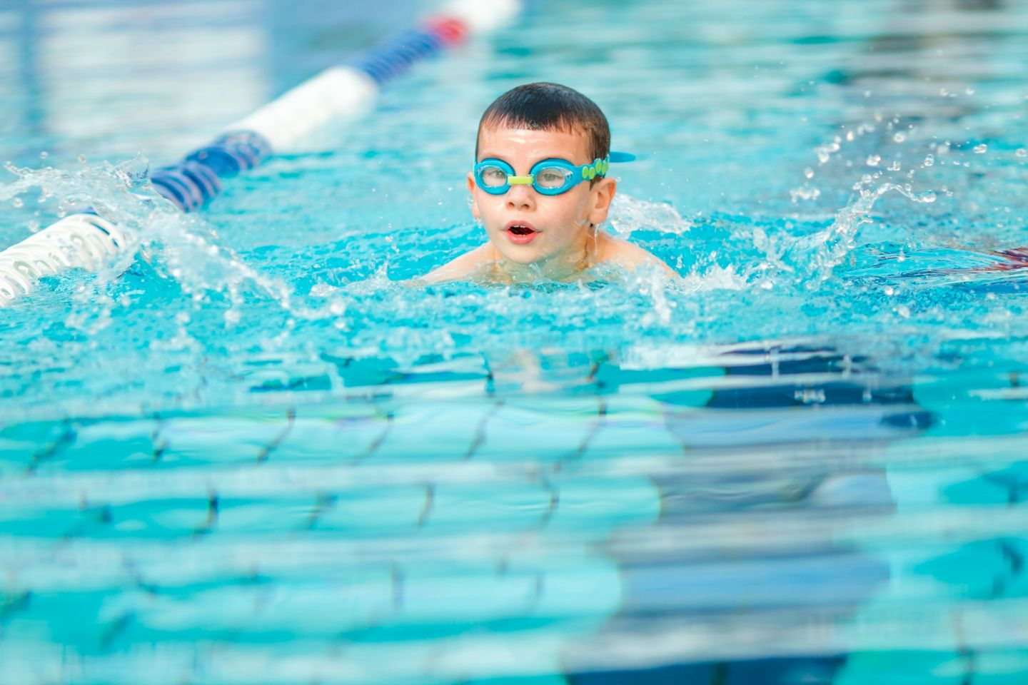 Swimming lessons at the Old Course Hotel, St Andrews