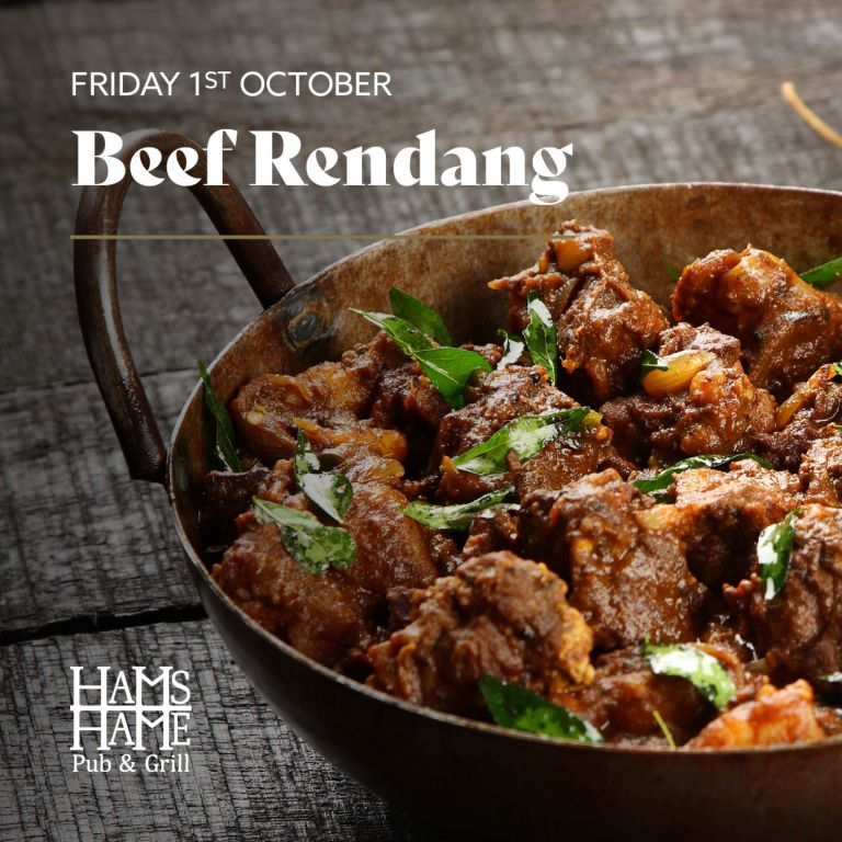 A bowl of Beef Rendang